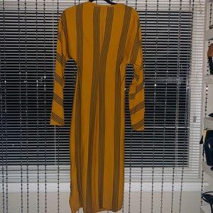 Z A R A Gold/Black Dress NWOT SzM